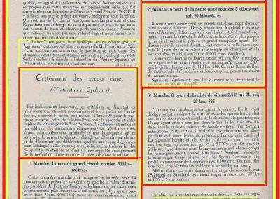 1926 17 10 XXe Salon, le Critérium des 3 C.O. 1100, 1er Duray, ab Martin et Morel (radiateur percé). Jeuffrain 4e. Le GP, 1er Divo, 2ème Segrave, Moriceau 3e sur les 3 Talbot 1500cc. 5