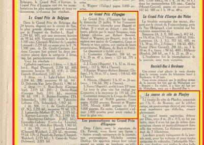 1926 18 07 GP Europe St Sébastien. Goux Bug., , Laffrey Martin, le 25 GP d'Espagne 1er Costantini et le 30 Planfoy Martin. 20