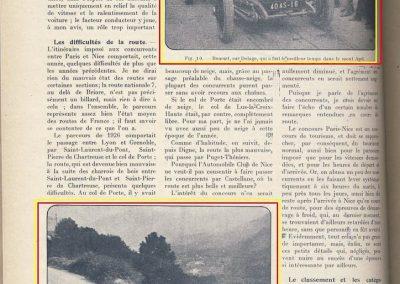 1926 21 02 le Mont Agel, 1er Morel Amilcar,1100cc, 5'5'' (à 4 dixième de seconde de Chiron Bugatti 1500cc). Benoist-Delage + de 8000cc 1er !. 1