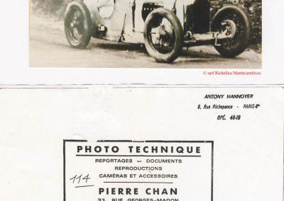 1926 21 11 Gometz le Chatel, Amilcar C.O, 1er Morel. 1