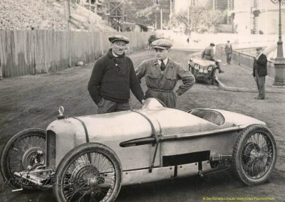 1926 22 02 Mi-Corniche. Pesage à Monaco. Amilcar C.O. 1er Morel 37''1-5 RGTC. à 121 km-h. 1