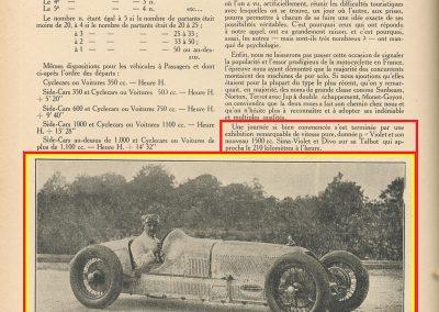 1926 22 08 Championnat MCF Exhibition Divo près de 210 kmh sur la nouvelle Talbot 1500cc 1