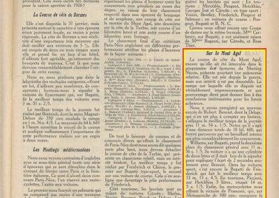 1926 25 02 Mi-Corniche (Meeting de Monaco), Amilcar, 1er Morel en 37'' 1-5, près de 100 km-l, devant Bourlier-Delage 2000cc. Mont Agel Williams. 1