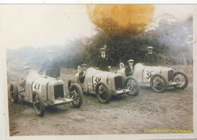 1926 25 09 les 200 Miles de Brooklands. Les 3 Amilcar C.O. 1100cc, 1er Martin 2h.31', 2e Duray, 3e Morel. Campbell-Bugatti 1er des 1500cc, 2h.38' . 2