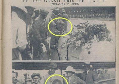 1926 27 06 GP ACF 1er Goux et Costantini-Bugatti 1500ccc, et GP Voiturettes légères 1er Casse Salmson (bien fatigué, sans lunette). 1