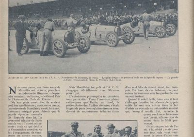 1926 27 06 GP ACF Goux et Costantini-Bugatti, seulement 3 Bugatti au départ, 2 à l'arrivée ! GP Voiturette légères 1100 Amilcar C.O. (les 3 voitures de Morel, Martin et Duray sont retirées ! ). 2