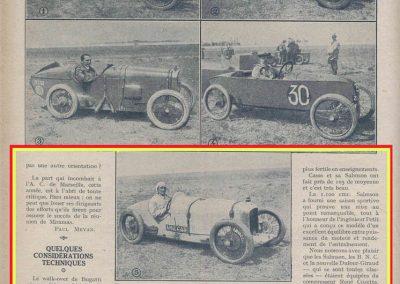 1926 27 06 GP ACF Goux et Costantini-Bugatti, seulement 3 Bugatti au départ, 2 à l'arrivée ! GP Voiturette légères 1100 Amilcar C.O. (les 3 voitures de Morel, Martin et Duray sont retirées ! ). 3