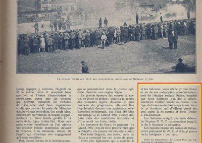 1926 27 06 GP ACF Goux et Costantini-Bugatti, seulement 3 Bugatti au départ, 2 à l'arrivée ! GP Voiturette légères 1100 Amilcar C.O. (les 3 voitures de Morel, Martin et Duray sont retirées ! ). 5