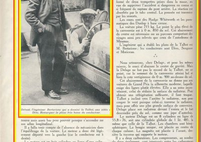1926 27 06 GP ACF Talbot 1500. Bertarione avec Divo. 1