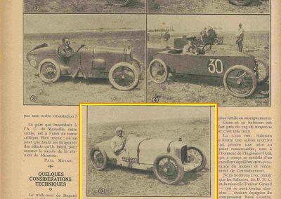 1926 27 06 GP de l'A.C.F. 1er Goux, 2ème Costantini, des Voit. légères 1er Casse Salmson. ab. Amilcar Morel, Martin et Duray ! .4