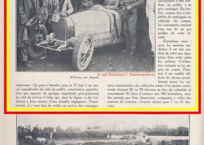 1926 28 03 GP 2ème Provence Coupe Hartford Miramas, Amilcar 1100 1er Morel 2ème Martin. En 1500, 2ème Moriceau-Talbot, 3ème Williams-Bugatti. 2