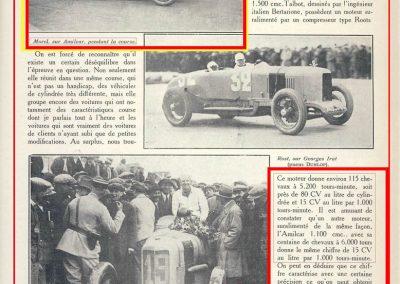 1926 28 03 GP 2ème Provence Coupe Hartford Miramas, Amilcar 1100 1er Morel 2ème Martin. En 1500, 2ème Moriceau-Talbot, 3ème Williams-Bugatti. 4
