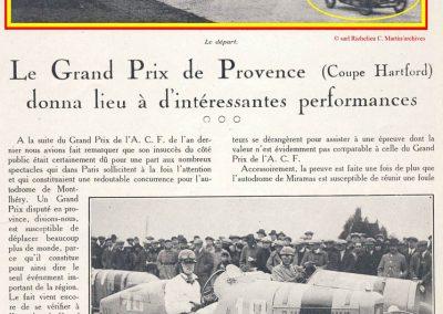 1926 28 03 GP 2ème Provence, Coupe Hartford Miramas, Amilcar 1100, 1er Morel, 2ème Martin. En 1500cc, 2ème Moriceau-Talbot, 3ème Williams-Bugatti. 0