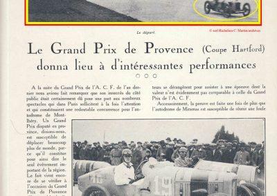 1926 28 03 GP 2ème Provence, Coupe Hartford Miramas, Amilcar 1100, 1er Morel, 2ème Martin. En 1500cc, 2ème Moriceau-Talbot, 3ème Williams-Bugatti. 1