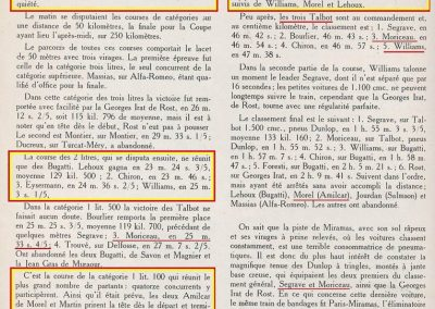 1926 28 03 GP Provence à Miramas. la Coupe Hartford des Voiturettes, Amilcar, 1er Morel n°5 et n°6, 2ème Martin. GP 1er Segrave, 2ème Moriceau Talbot, 3ème Williams, 4ème Chiron. 10