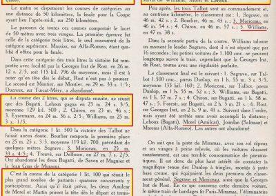 1926 28 03 GP Provence à Miramas. la Coupe Hartford des Voiturettes, Amilcar, 1er Morel n°5 et n°6, 2ème Martin. GP 1er Segrave, 2ème Moriceau Talbot, 3ème Williams, 4ème Chiron. 16