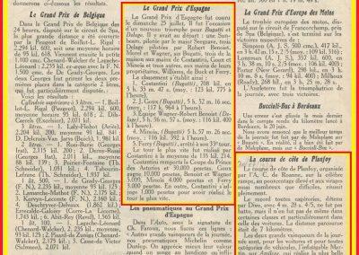 1926 30 05 Planfoy 1er Martin, Laffrey Europe Saint-Sébastien. Goux Bug., , Laffrey Martin, le 25 GP d'Espagne 1er Costantini et le . 2