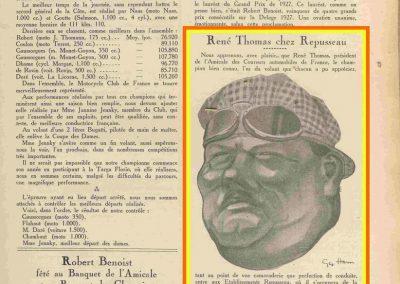 1927 01 01 Banquet Repusseau Hartford. G. P. Académique de l'Automobile 10.000 fr. décerné à Jules Goux ET Costantini. _