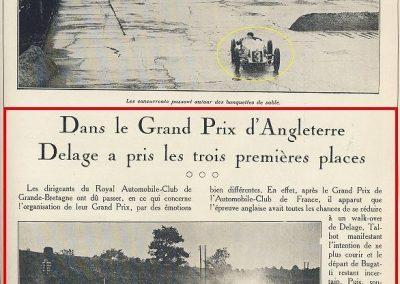 1927 01 10 GP Angleterre à Brooklands, 1er Benoist, Bourlier, Divo-Delage, Chiron, Materassi, 6ème Williams-Conelli-Bugatti. 2