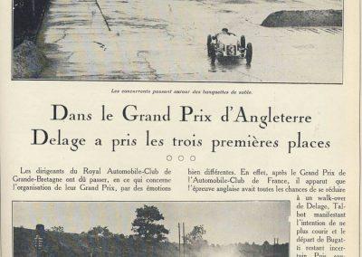 1927 01 10 GP de Grande Bretagne -Angleterre. les 3 Delage, 1er Benoist, 2ème Bourlier et 3ème Divo, 6ème Conelli-Williams-Bugatti. 1