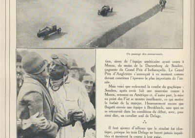 1927 01 10 GP de Grande Bretagne -Angleterre. les 3 Delage, 1er Benoist, 2ème Bourlier et 3ème Divo, 6ème Conelli-Williams-Bugatti. 2 -- Copie