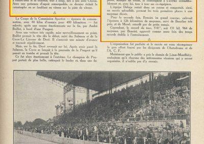 1927 03 07 Course 'Formule Libre' 1er Divo-Talbot, 2ème Chiron et Eyston-Bugatti, Mme Derancourt-Salmson 1100cc. 3