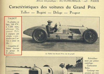 1927 03 07 GP ACF 1er Benoist, Bourlier, Morel sur Delage, Williams-Moriceau sur Talbot, Eyston. 10