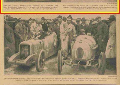 1927 03 07 GP de l'ACF à Montlhéry. 1er Benoist, 2 Bourlier, 3 Morel Delage, 4 Williams-Moriceau Talbot. 3