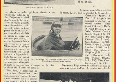 1927 03 07 GP de l'ACF à Montlhéry. 1er Benoist, 2 Bourlier, 3 Morel Delage, 4 Williams-Moriceau Talbot. Erreur de photo, c'est Divo sur la Talbot. 16