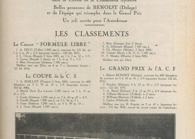 1927 03 07 la Course Formule libre 1er Divo, la Coupe de la C.S. 1er Boillot et le GP de l' ACF. 1er Benoist, Morel, Williams-Moriceau. 1