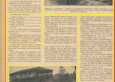 1927 04 09 a Monza, GP d'Europe 1er Benoist Delage Champion du Monde et le GP de Milan 1er Bordino FIAT, Amilcar 4ème Zampiéri et 1er des 1100cc 1_