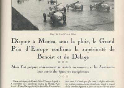 1927 05 09 GP de Milan. Amilcar, Zampiérie, 1er des 1100. GP d'Italie et d'Europe 1er Benoist Delage. 1