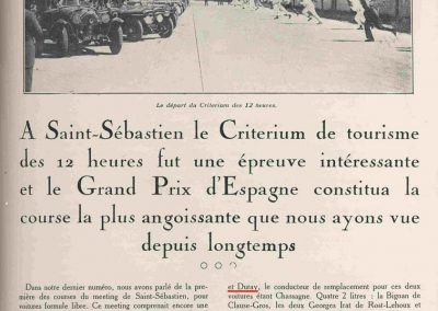 1927 -- 07 12 h. Saint Sébastien, Espagne, Duray-Laly Ariès 3000cc. Amilcar d'Acosta. 1