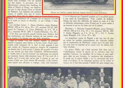 1927 10 09 GP Boulogne-Mer. Amilcar MCO GH, Duray 1er des 1100 n°37. le 15 08 GP U.M.F. 1er Martin Amilcar MCO, 1er des 1100 n°36. 3
