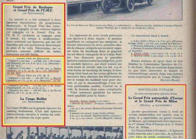 1927 10 09 GP Boulogne-Mer. Amilcar MCO GH, Duray 1er des 1100 n°37. le 15 08 GP U.M.F. 1er Martin Amilcar MCO, 1er des 1100 n°36. 5