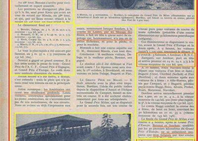 1927 10 09 GP Boulogne-Mer. Amilcar MCO GH, Duray 1er des 1100 n°37. le 15 08 GP U.M.F. 1er Martin Amilcar MCO, 1er des 1100 n°36. 6