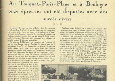 1927 10 09 GP de Boulogne-Mer des Voiturettes légères 1100, 1er Duray, Amilcar MCO. GP de l'U.M.F. 1er Martin Amilcar MCO. 1