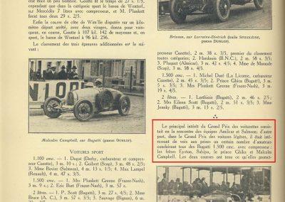 1927 10 09 GP de Boulogne-Mer des Voiturettes légères 1100, 1er Duray, Amilcar MCO. GP de l'U.M.F. 1er Martin Amilcar MCO. 5