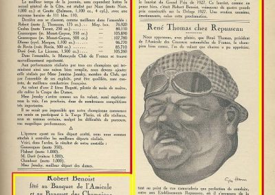 1927 12 03 Banquets des Champions Benoist - René Thomas