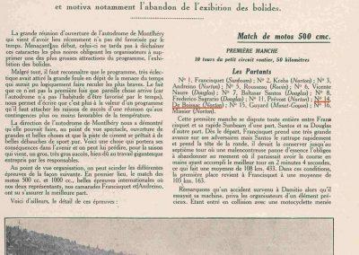 1927 13 03 Réouverture Montlhéry, temps épouvantable. Course des 1100, 11ème Jeuffrain Amilcar C.6. GP d'Ouverture Benoist 1er des 15-2000 devant 6 Bugatti. 1