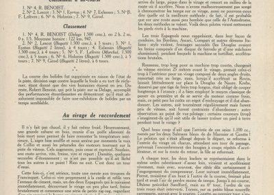 1927 13 03 Réouverture Montlhéry, temps épouvantable. Course des 1100, 11ème Jeuffrain Amilcar C.6. GP d'Ouverture Benoist 1er des 15-2000 devant 6 Bugatti. 4