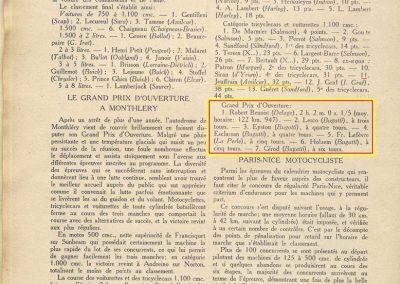 1927 13 03 Réouverture Montlhéry, temps épouvantable. Course des 1100, 11ème Jeuffrain Amilcar C.6. GP d'Ouverture Benoist 1er des 15-2000 devant 6 Bugatti. 5
