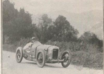 1927 13 03 la Turbie, 6,6 km, Morel-Amilcar 1er en 1100cc en 4'55'' (à 10'' derrière la 1500 Delage de Bourlier et de 27'' devant la 1500 Bugatti de Chiron) !. 2