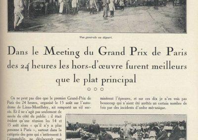 1927 14-15 08 GP Paris (Meeting), Amilcar 1er Martin MCO GH, 2ème Morel Amilcar MCO 1100. Dhome et Pousse sur BNC. 1