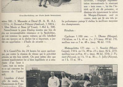 1927 14-15 08 GP Paris (Meeting), Amilcar 1er Martin MCO GH, 2ème Morel Amilcar MCO 1100. Dhome et Pousse sur BNC. 3