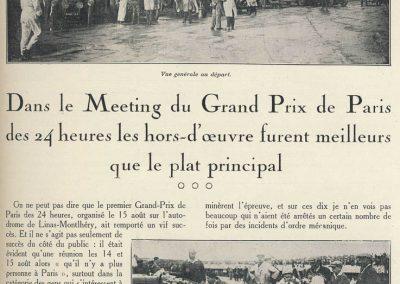 1927 15 08 dans le Cadre du Meeting du GP Paris des 24 heures, Course de Vitesse en 3 manches à Montlhéry, 1er Martin, 2ème Morel, 3ème Casse Salmson. 1