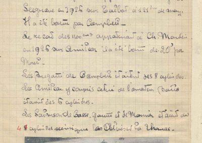 1927 15 10 Brooklands les 200 miles. Les 3 Amilcar MCO victorieuses, 1er Morel n° 23, 2ème Balls n°22 et 3ème Martin n°24. Campbel 1er Bugatti 1500cc. 8