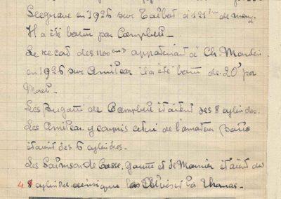 1927 15 10 les 200 Miles à Brooklands, Amilcar 1er Morel MCO 1100 n°23, V. Balls 2ème n°22 et Martin 3ème n°24. Campbell Bugatti 1er des 1600. 3