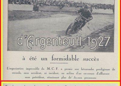 1927 20 03 Côte d'Argenteuil D.A. 1,800 km, Amilcar C.O. Martin 1'16''4-5, R.B. 84 km-h de moy. Grande Médaille d'Or. 1