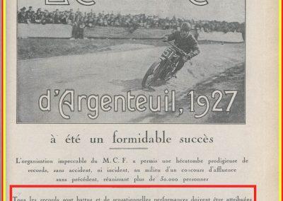 1927 20 03 Côte d'Argenteuil. 1,800 km, Amilcar 1100 MCO GH, n°115, Martin 1er des 1100, 1'16''45 à 84,375, R.B., Grande médaille d'Or. 1
